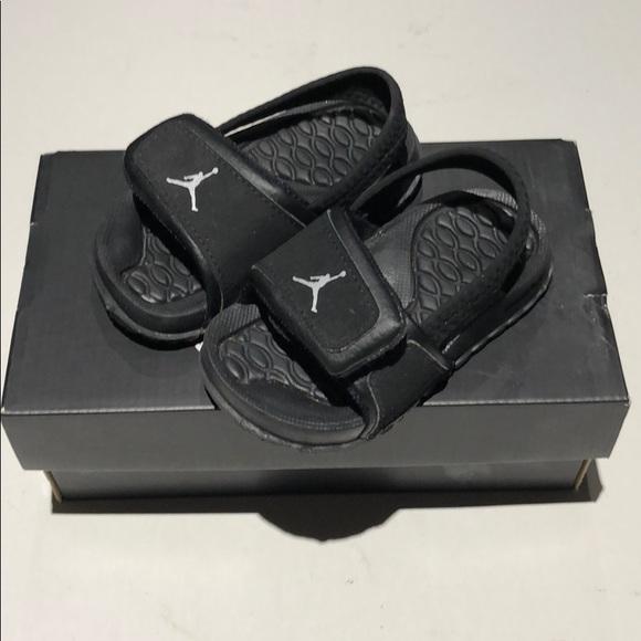 89a58dba9a3675 Jordan HYDRO 2 TD size 5C Velcro sandals black